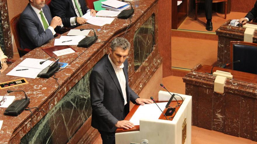 El portavoz de Podemos en la Asamblea Regional de Murcia, Óscar Urralburu / PSS