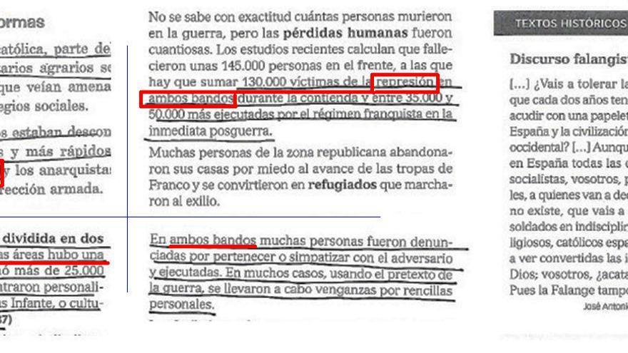 Extractos de un libro de Enseñanza Secundaria Obligatoria.