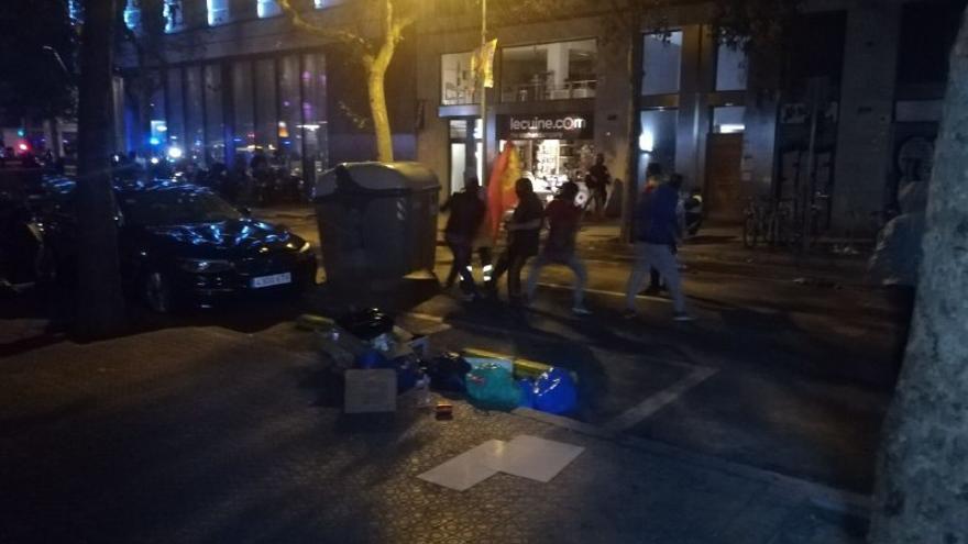 Manifestantes de extrema derecha en Barcelona