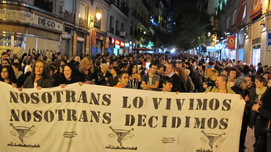 Manifestación trans en Madrid