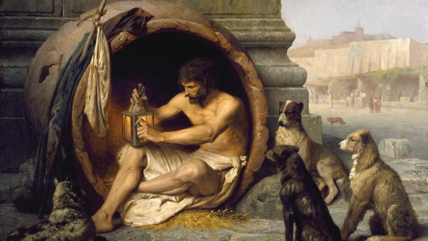 Diógenes. El filósofo griego visto por el pintor Jean-Léon Gérôme (1860)