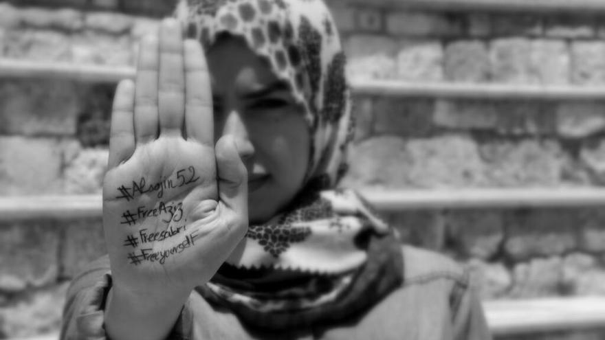 Imagen difundida en el marco de la campaña #FreeAzyz/ Fotografía: Lilia Weslat