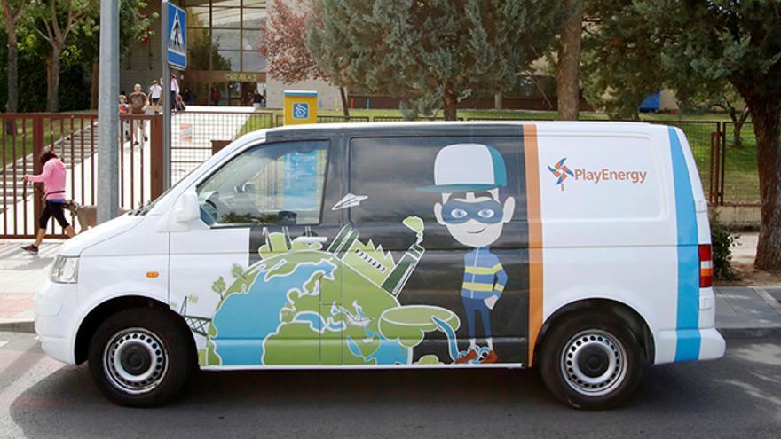 Vehículo del taller educativo PlayEnergy de la Fundación Endesa.
