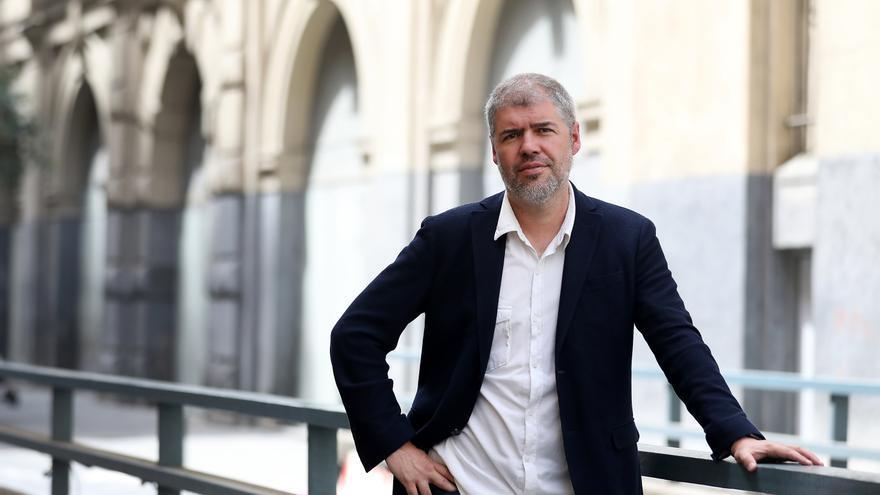 Unai Sordo, secretario general de CCOO, en el centro de Madrid.