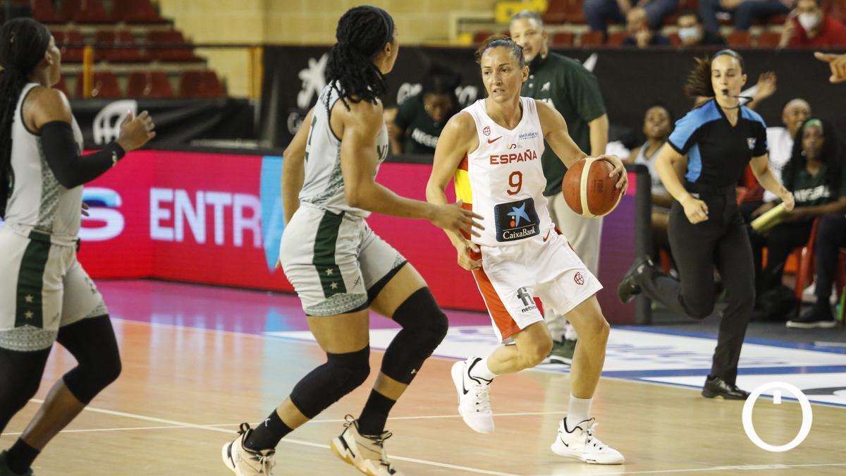 Laia Palau, durante el encuentro ante Nigeria
