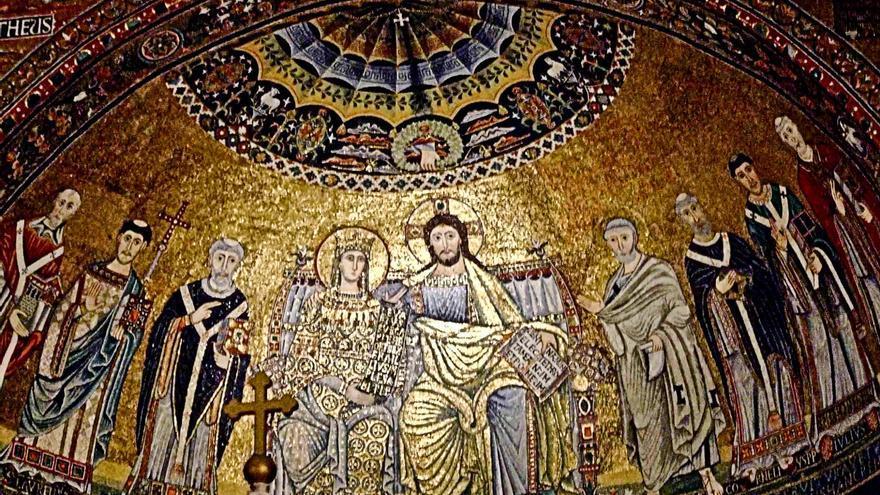Mosaicos de la Basílica de Santa María del Trastevere.