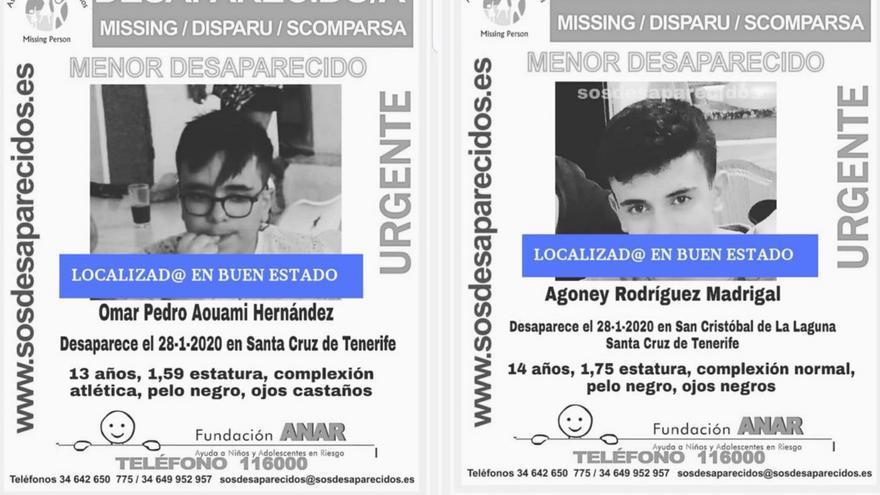 Alerta desactivada por la desaparición de dos menores en Tenerife