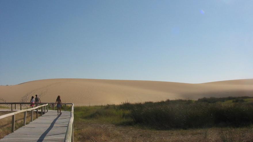 Vista de las dunas de Corrubedo