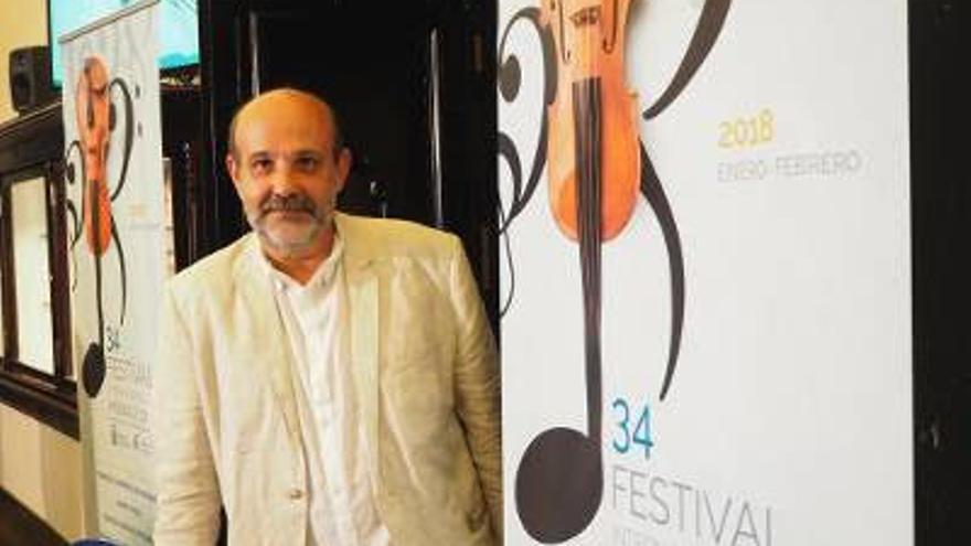 Jorge Perdigón es el director del Festival de Música de Canarias.