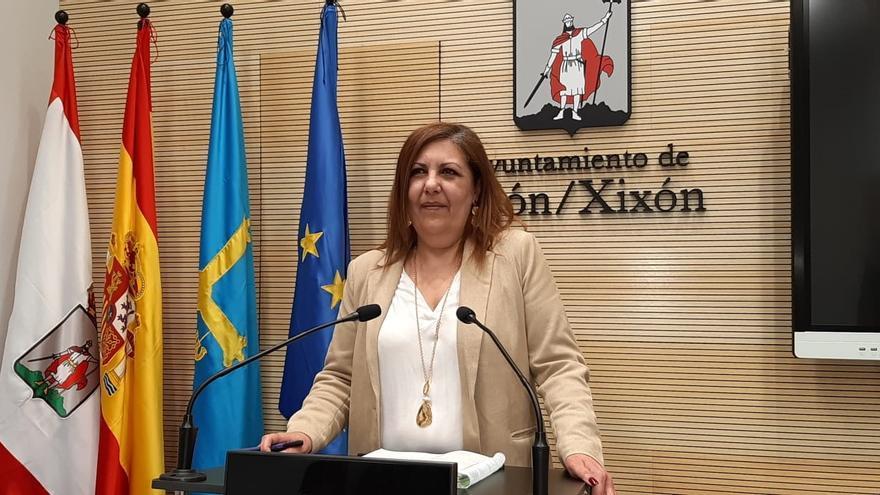 Archivo - Marina Pineda, portavoz del Ayuntamiento de Gijón