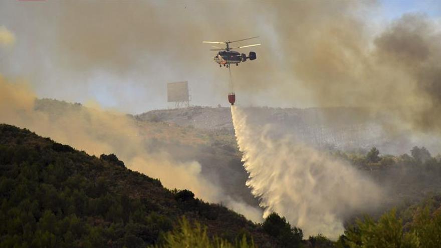 El incendio forestal de la Sierra Calderona ha quemado ya 973 hectáreas