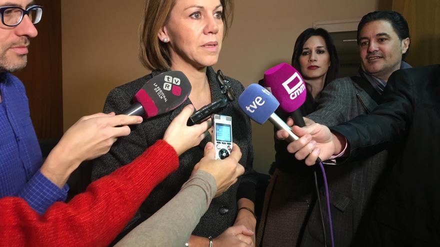 """Cospedal traslada """"de corazón"""" su pésame a la familia de José Antonio Alonso, """"servidor público entregado a su país"""""""