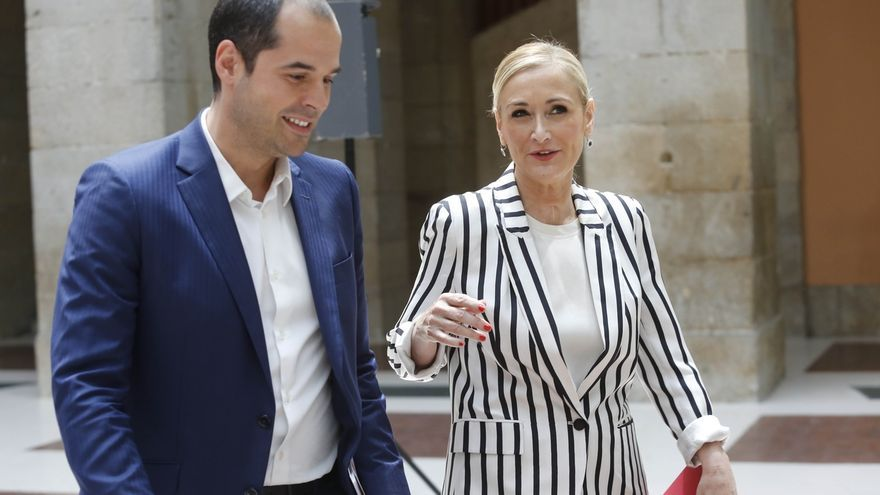 Ignacio Aguado, junto a Cristina Cifuentes cuando las relaciones entre Cs y PP eran fluidas