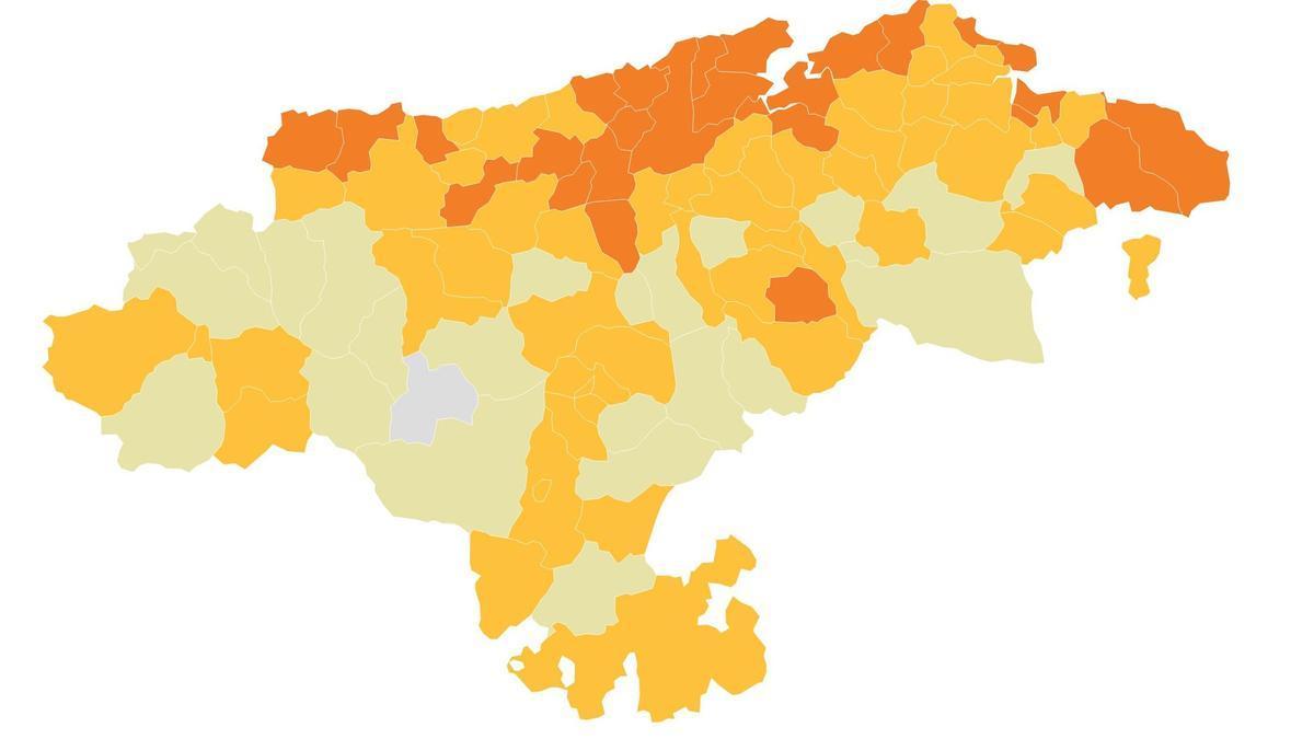 Semáforo COVID en Cantabria.