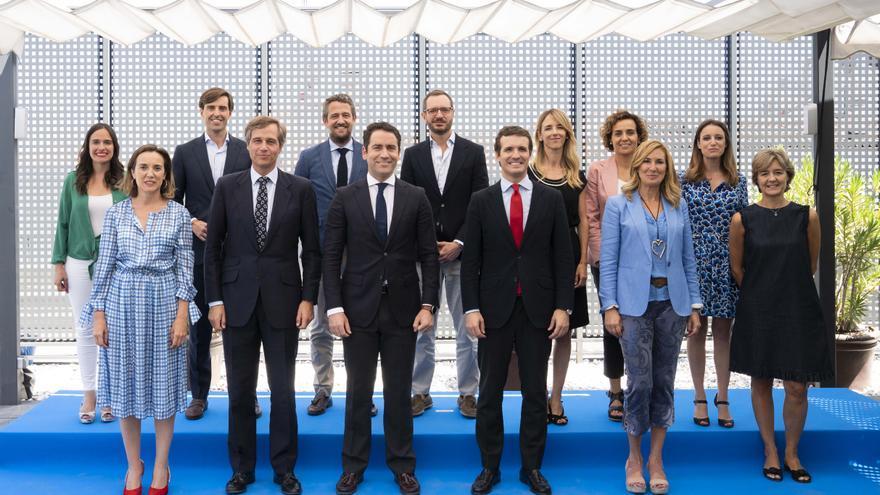 El nuevo Comité de Dirección del PP, este martes, en Génova.