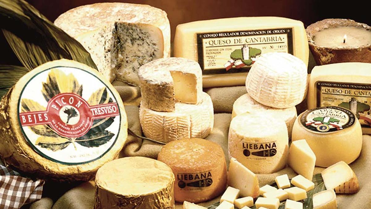 Las tres D.O.P. de los quesos de Cantabria.