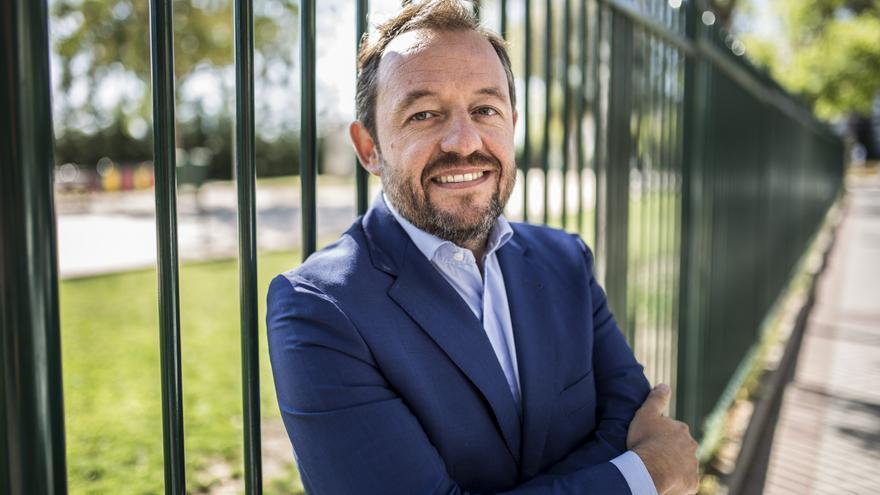 El exportavoz de Hacienda de Ciudadanos, Francisco de la Torre, durante una entrevista con eldiario.es
