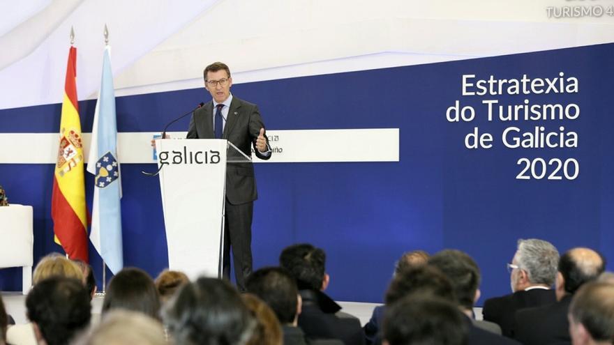 Feijóo, en la reciente presentación de la estrategia turística de la Xunta