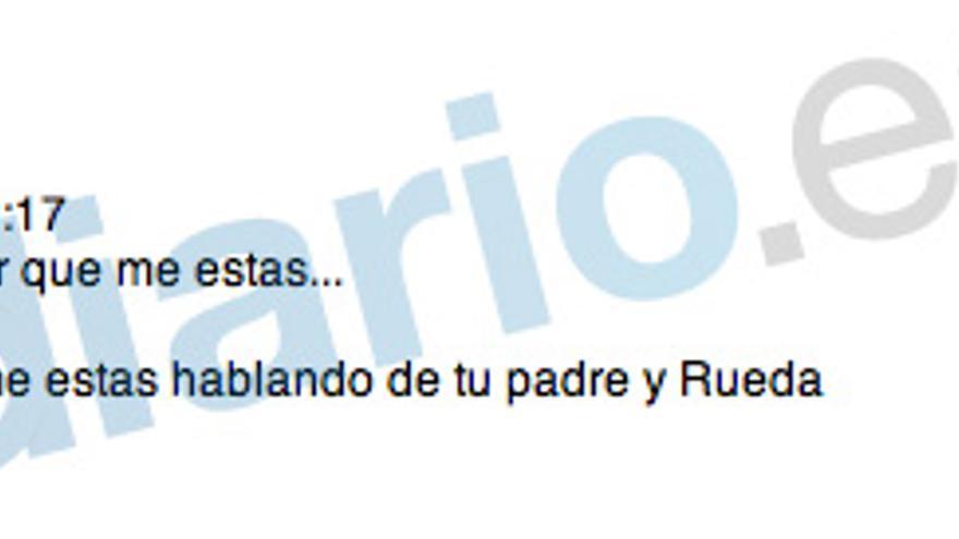 """Blesa al hijo de Aznar: """"Espero que no te refieras a Rueda y tu padre"""""""