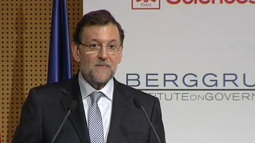 "Rajoy en las jornadas ""Europa: las próximas etapas"", organizadas por el Instituto Berggruen."