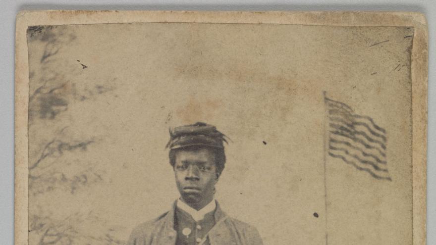 Soldado afroamericano durante la Guerra Civil