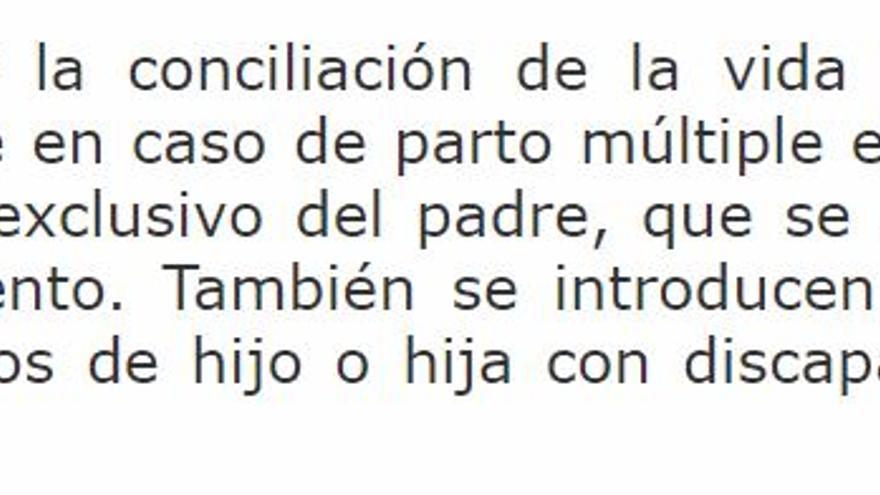Fragmento de la LO 3/2007