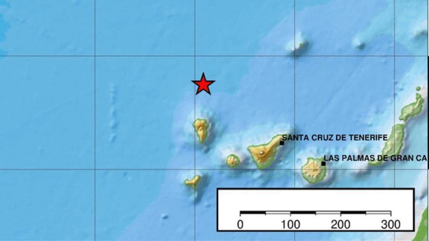 Gráfico de la localización del terremoto.