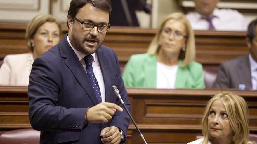 El presidente del grupo parlamentario del Partido Popular, Asier Antona (EFE/Ramón de la Rocha).
