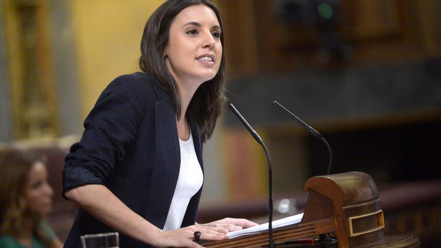 La portavoz de Unidos Podemos, Irene Montero.