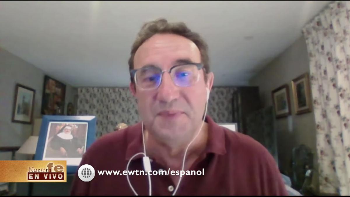 El magistrado Juan Ignacio Moreno-Luque Casariego, durante una entrevista con la cadena de televisión católica EWTN.