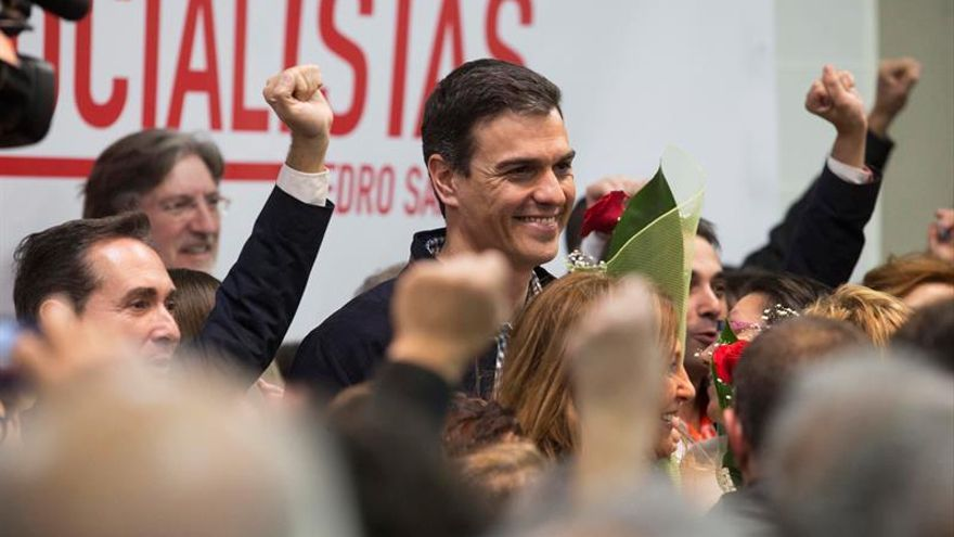 Pedro Sánchez, en el acto de presentación de sus propuestas para las primarias en Madrid.