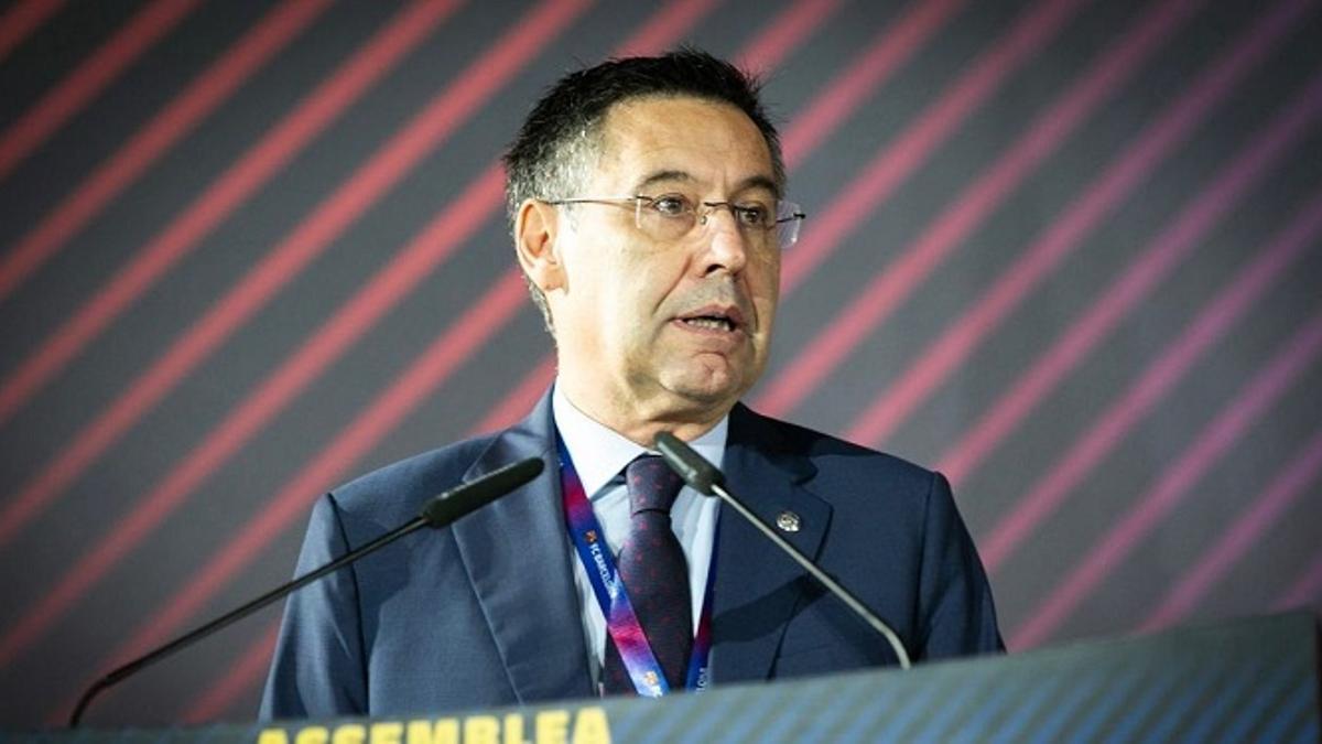 El presidente del F.C. Barcelona, Josep Maria Bertomeu.