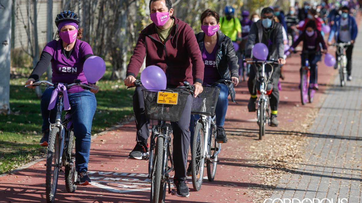 Una marcha en bicicleta en Córdoba