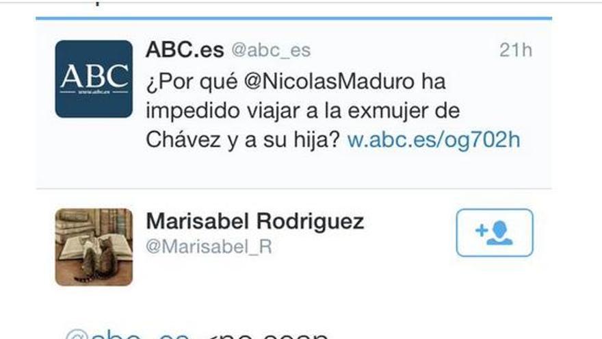 Tuit mujer de Chávez