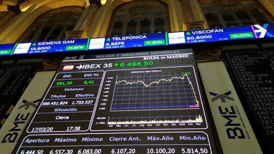 En la imagen, la Bolsa de Madrid.