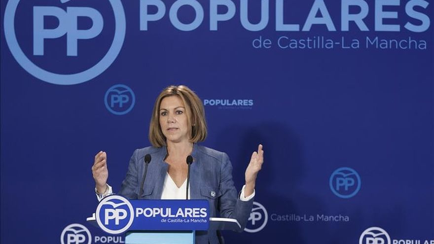 """Cospedal afirma que """"por supuesto que se para"""" el proceso catalán"""
