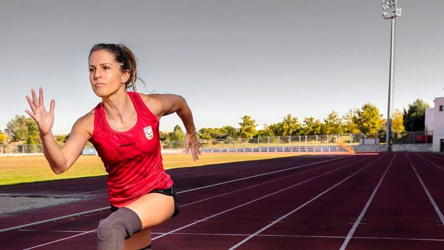 Sara Andrés, durante un entrenamiento.