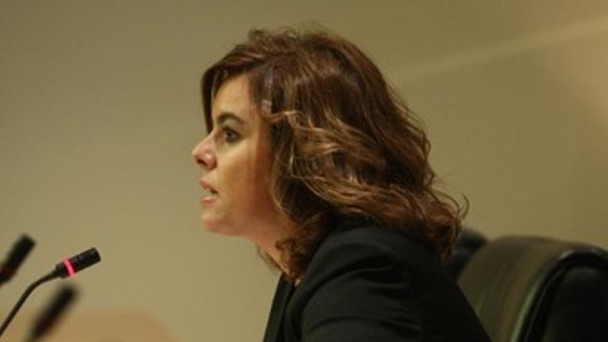 La portavoz del Grupo Popular en el Congreso, Soraya Sáenz de Santamaría