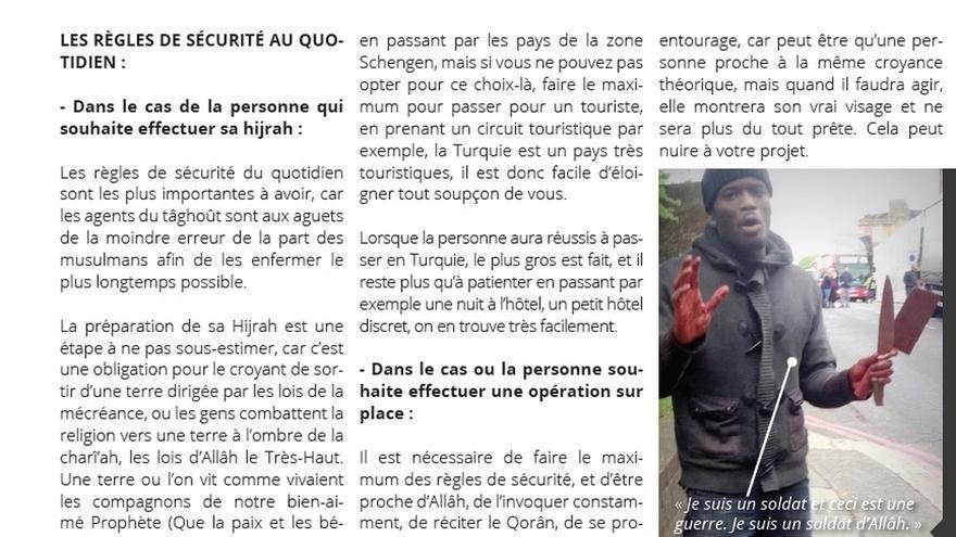 Estado Islámico difundió este verano en francés un manual sobre cómo atentar e instrucciones para evitar ser detenidos