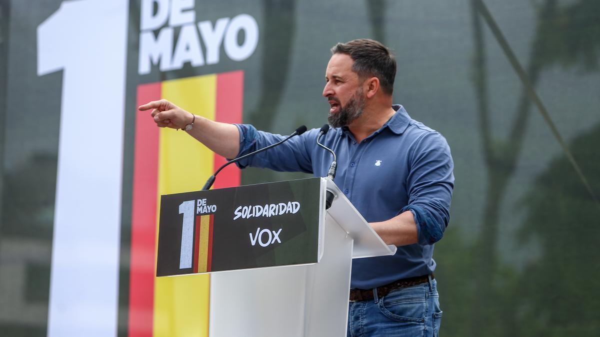 Abascal participa en el acto del sindicato Solidaridad celebrado el 1 de mayo