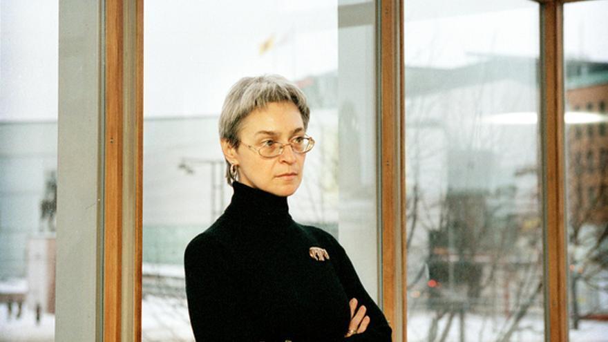 Anna Politkovskaya en Helsinki en diciembre de 2002 © Katja Tähjä