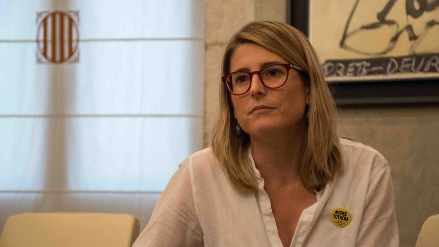 La consellera de la Presidència, Elsa Artadi, en un momento de la entrevista.