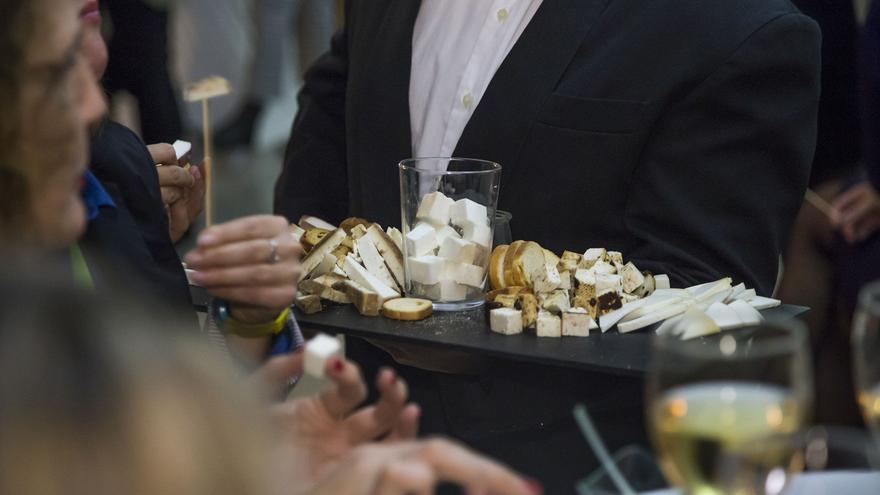 Durante el acto de presentación de La Palma en Madrid se pudo disfrutar de un catering con gastronomía palmera.