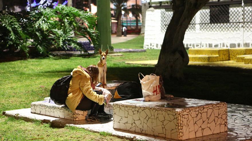 Persona 'sin techo' en Las Palmas de Gran Canaria.