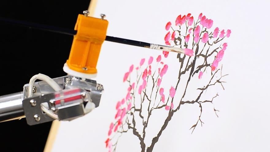 7Bot, un brazo de robot que puede apreder a pintar tras recibir una serie de coordenadas