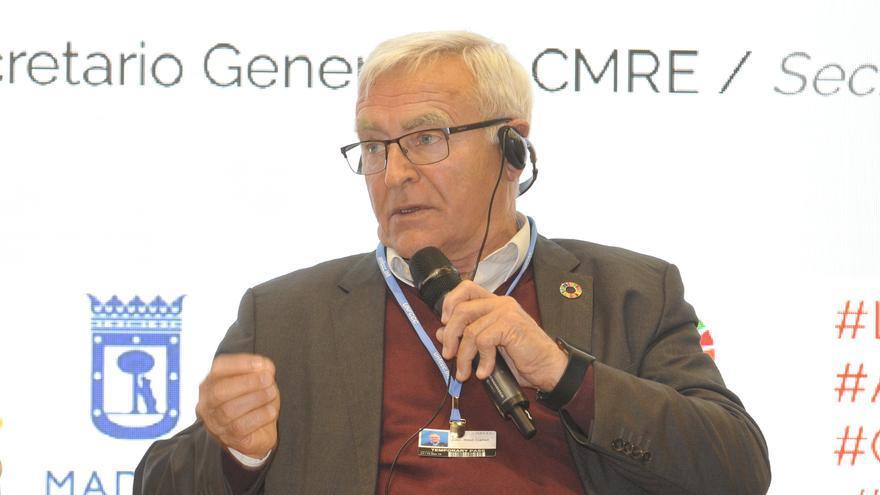 El alcalde de València, Joan Ribó, en su intervención en la Cumbre del Clima