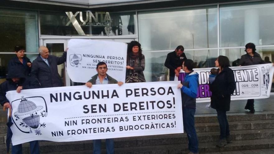 Manifestación en Vigo contra las trabas burocráticas en el acceso a la Risga