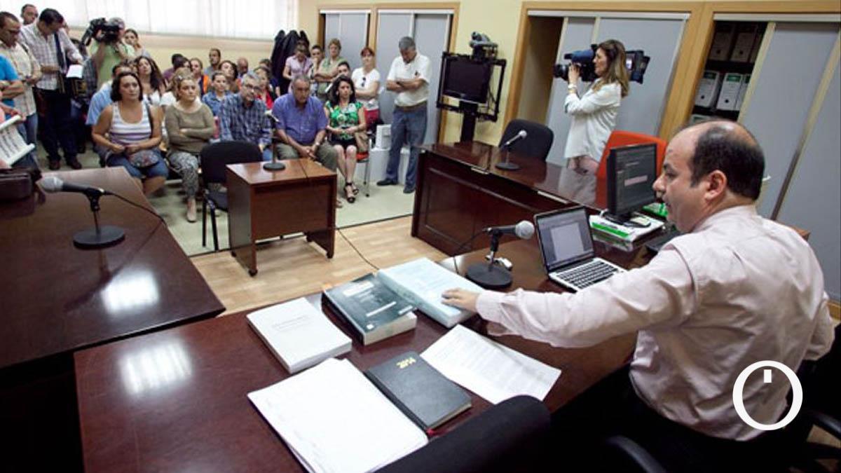 Fernando Caballero, en el antiguo Juzgado de lo Mercantil
