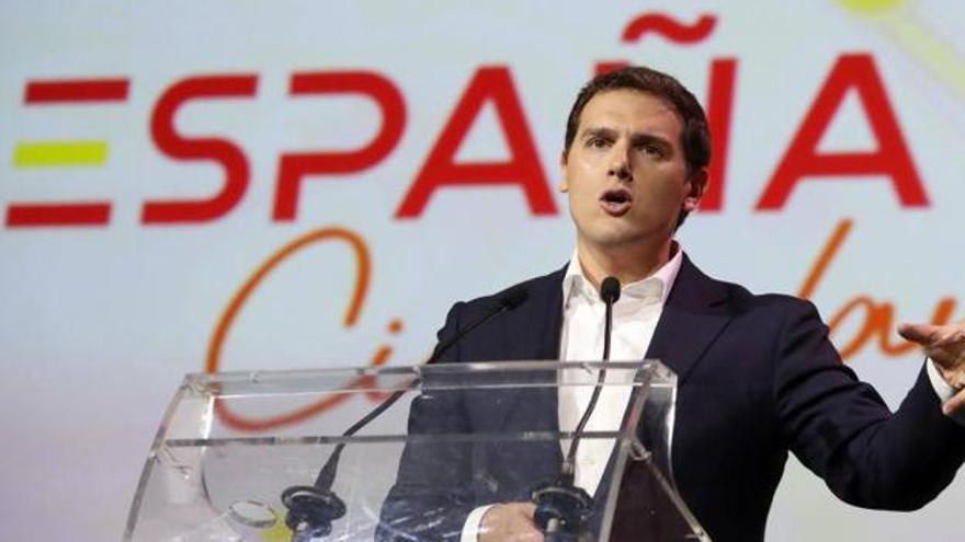 Albert Rivera en la presentación de su movimiento España Ciudadana. EFE