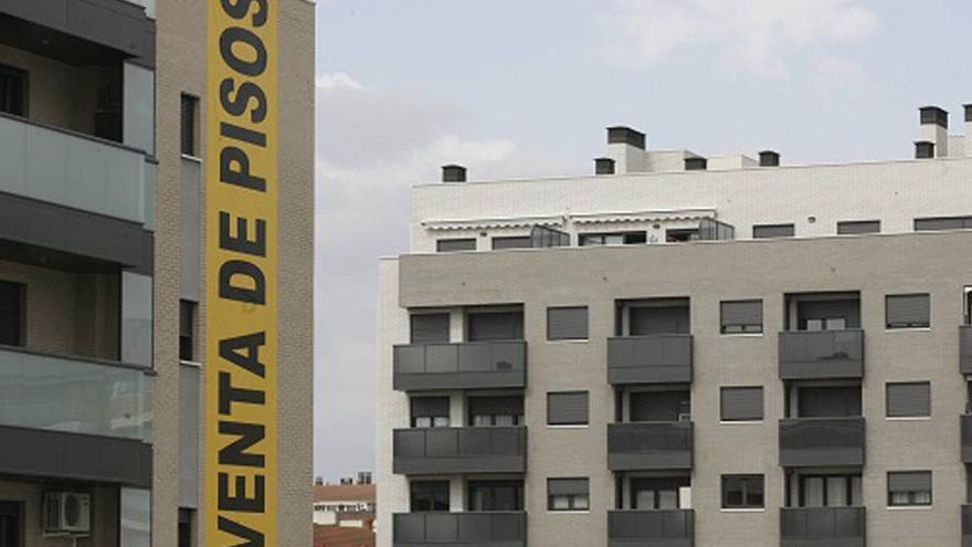 Una imagen de viviendas en venta.